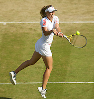 Caroline Wozniacki (DEN) (9) against  Maria Kirilenko (RUS)  in the second round of the ladies singles. Wozniacki beat Kirilenko 6-0 6-4..Tennis - Wimbledon - Day 4 - Thur 25th June 2009 - All England Lawn Tennis Club  - Wimbledon - London - United Kingdom..Frey Images, Barry House, 20-22 Worple Road, London, SW19 4DH.Tel - +44 20 8947 0100.Cell - +44 7843 383 012