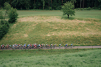 compact peloton with 5km to go approaching the last climb of teh day<br /> <br /> Stage 3: Oberstammheim &gt; Gansingen (182km)<br /> 82nd Tour de Suisse 2018 (2.UWT)