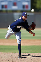 Milwaukee Brewers minor league pitcher Tyler Wagner #53 during an instructional league game against the Cincinnati Reds at Maryvale Baseball Park on October 3, 2012 in Phoenix, Arizona.  (Mike Janes/Four Seam Images)