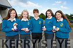 Students of Mercy Mounthawk who were presented with merit awards at the Mercy Mounthawk Secondary School,Awards 2017 at the School Gym on Wednesday evening. l-r: Jade Harkin,Cathy Dwyer,Darragh Caplis,Ciara Sugrue and Ada Relihan.