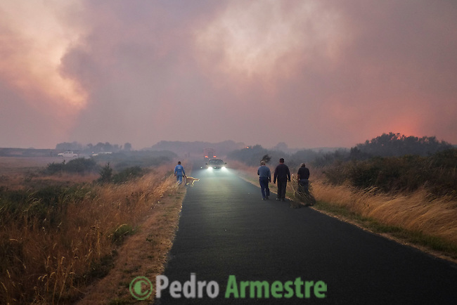 General view wildfire in Mandín Cualedro, Ourense on August 24, 2013 (c) Pedro ARMESTRE.