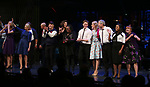 Julie Halston, Reggie Jackson, Danny Burstein, Maggie Gyllenhaal, Whoopi Goldberg, Matthew Morrison, Victoria Clark, Adrienne Warren, Annie Golden and cast during the Curtain Call for the Roundabout Theatre Company presents a One-Night Benefit Concert Reading of 'Damn Yankees' at the Stephen Sondheim Theatre on December 11, 2017 in New York City.