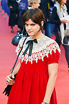 """Stephanie Sokolinski alias Soko poses on the red carpet before the screening of the film """"The Man from U.N.C.L.E."""" during the 41st Deauville American Film Festival on September 11, 2015 in Deauville, France"""