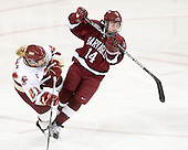 Andrea Green (BC - 21), Jillian Dempsey (Harvard - 14) - The Boston College Eagles defeated the visiting Harvard University Crimson 6-2 on Sunday, December 5, 2010, at Conte Forum in Chestnut Hill, Massachusetts.