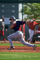 Cleveland Indians Tyler Krieger (17) during an instructional league game against the Cincinnati Reds on October 17, 2015 at the Goodyear Ballpark Complex in Goodyear, Arizona.  (Mike Janes/Four Seam Images)