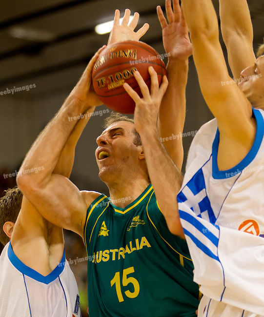 Basketball-Australia (Boomers) v Greece 24-06-2012.Spalding.Photo: Grant TreebyBasketball-Australia (Boomers) v Greece at the State Basketball Centre Knox 25-06-2012.Spalding.Photo: Grant Treeby
