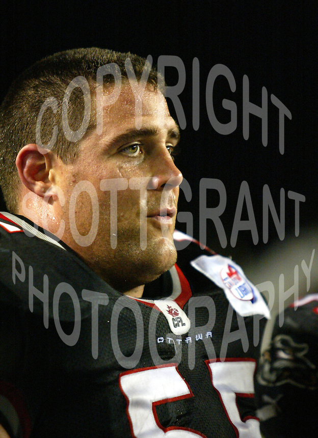 Chris Burns Ottawa Renegades 2003. Photo Scott Grant
