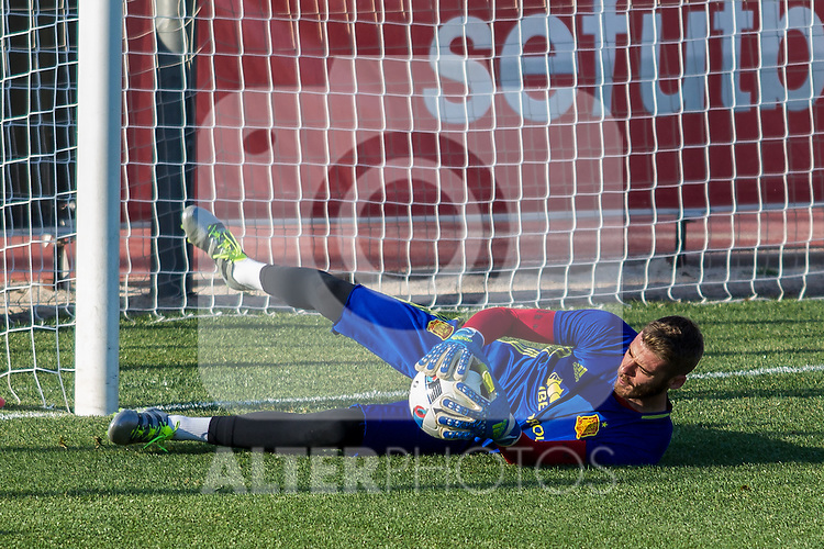 Spain's David De Gea during the first training of the concentration of national soccer team before the Uefa Euro 2016.  Jun 4,2016. (ALTERPHOTOS/Rodrigo Jimenez)