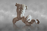 Roman statue fragment of Triton son of Poseidon. Roman 2nd century AD, Hierapolis Theatre.. Hierapolis Archaeology Museum, Turkey