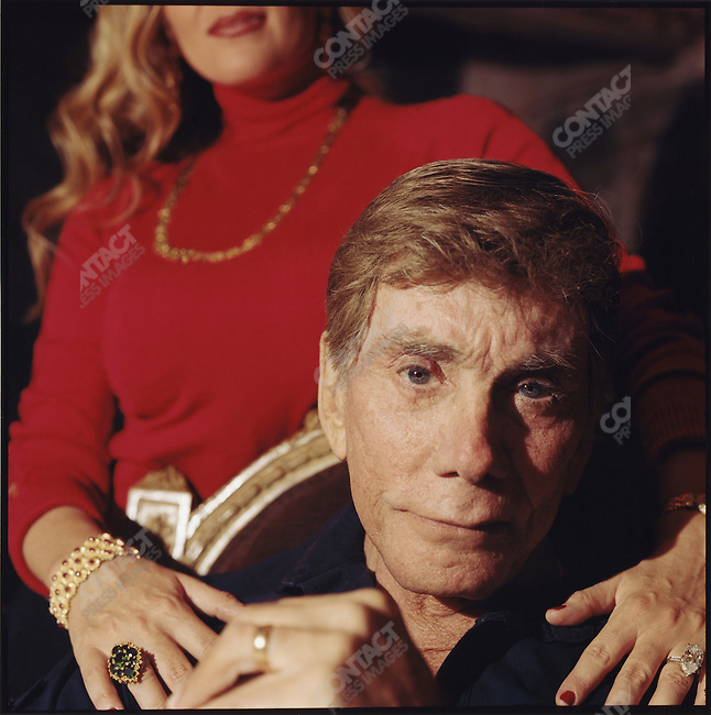 Bob Guccione, pornographer and founder of Penthouse and Viva magazines, with his girlfriend, April Warren, in his East 67th Street mansion. New York City, December 6, 2005