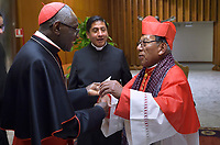 Cardinal Toribio Ticona Porco,   Cardinal Robert Sarah,Pope Francis leads a consistory for the creation of five new cardinals  at St Peter's basilica in Vatican on  June 28, 2018
