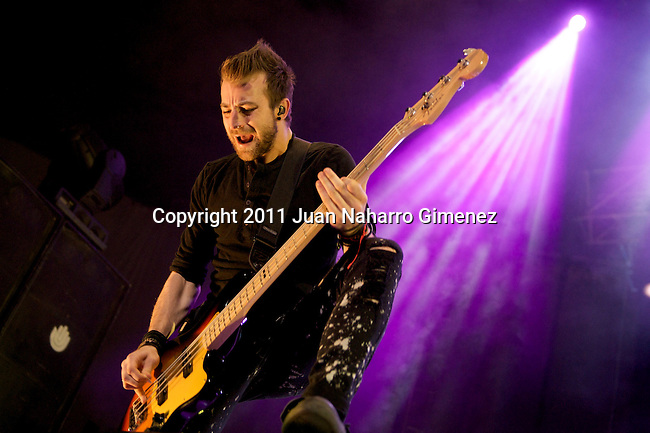 MADRID, SPAIN - JULY 11:  Jeremy Davis of Paramore perfoms on stage at Palacio de Vistalegre on July 11, 2011 in Madrid, Spain.  (Photo by Juan Naharro Gimenez)