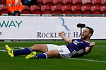 Jack O'Connell of Sheffield Utd celebrates before the goal was disallowed during the Championship match at the Riverside Stadium, Middlesbrough. Picture date: August 12th 2017. Picture credit should read: Simon Bellis/Sportimage