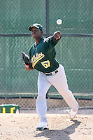 Anvioris Ramirez, Oakland Athletics 2010 minor league spring training..Photo by:  Bill Mitchell/Four Seam Images.