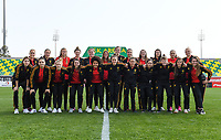20190227 - LARNACA , CYPRUS :  Belgian players pictured posing for a teampicture prior to a women's soccer game between the Belgian Red Flames and Slovakia , on Wednesday 27 February 2019 at the AEK Arena in Larnaca , Cyprus . This is the first game in group C for Belgium during the Cyprus Womens Cup 2019 , a prestigious women soccer tournament as a preparation on the Uefa Women's Euro 2021 qualification duels. PHOTO SPORTPIX.BE | DAVID CATRY