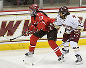 Kayla Sullivan (St. Lawrence - 13), Blake Bolden (BC - 10) - The visiting St. Lawrence University Saints defeated the Boston College Eagles 4-0 on Friday, January 15, 2010, at Conte Forum in Chestnut Hill, Massachusetts.