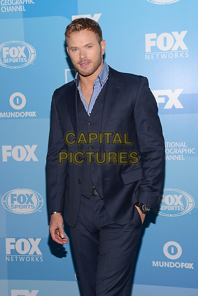 NEW YORK - MAY 11: Actor Kellan Lutz arrives at the 2015 FOX Programming Presentation Post Party at the Wollman Rink in Central Park on May 11, 2015 in New York City. <br /> CAP/MPI/PGCS<br /> &copy;PGCS/MPI/Capital Pictures