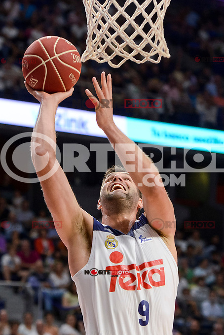 Real Madrid's Felipe Reyes during semi finals of playoff Liga Endesa match between Real Madrid and Unicaja Malaga at Wizink Center in Madrid, June 02, 2017. Spain.<br /> (ALTERPHOTOS/BorjaB.Hojas) /NortePhoto.com