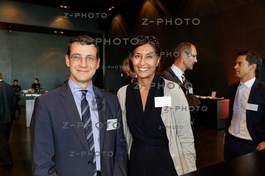 v.l.n.r. Stefano Coduri; BSI SA, Christina-Anne Kyosti; Capgemini Consulting am Bankiertag vom 16. September 2014 im KKL<br /> Luzern<br /> <br /> Copyright &copy; Zvonimir Pisonic