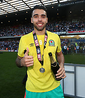 Blackburn Rovers' David Raya celebrates at the end of todays match<br /> <br /> Photographer Rachel Holborn/CameraSport<br /> <br /> The EFL Sky Bet League One - Blackburn Rovers v Oxford United - Saturday 5th May 2018 - Ewood Park - Blackburn<br /> <br /> World Copyright &copy; 2018 CameraSport. All rights reserved. 43 Linden Ave. Countesthorpe. Leicester. England. LE8 5PG - Tel: +44 (0) 116 277 4147 - admin@camerasport.com - www.camerasport.com