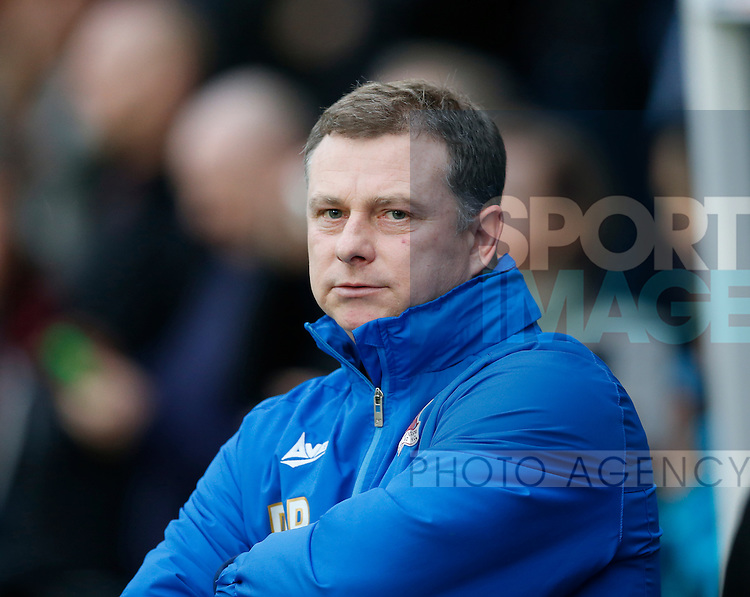 Mark Robins manager of Scunthorpe Utd - English League One - Scunthorpe Utd vs Sheffield Utd - Glandford Park Stadium - Scunthorpe - England - 19th December 2015 - Pic Simon Bellis/Sportimage