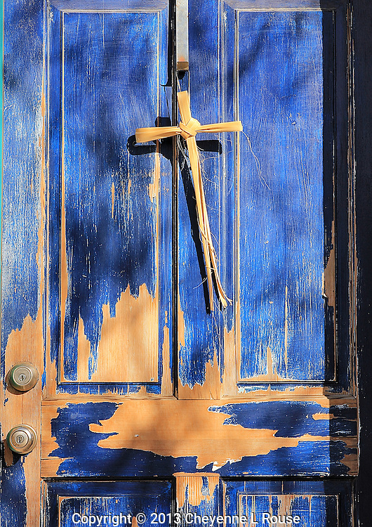 Blue Door with Yucca Cross - Arizona
