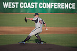 May 24, 2014; Stockton, CA, USA; Pepperdine Waves pitcher Jackson McClelland (40) during the WCC Baseball Championship at Banner Island Ballpark.