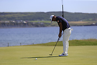 Hideto Tanihara (JPN) putts on the 3rd green during Thursday's Round 1 of the Dubai Duty Free Irish Open 2019, held at Lahinch Golf Club, Lahinch, Ireland. 4th July 2019.<br /> Picture: Eoin Clarke | Golffile<br /> <br /> <br /> All photos usage must carry mandatory copyright credit (© Golffile | Eoin Clarke)