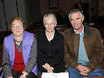 Evelyn Kells, Elspeth and James Hall pictured at the Harvest thanksgiving service at St Mary's Abbey Ardee. Photo: www.pressphotos.ie