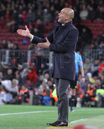 20.03.2012, Barcelona, Spain. La Liga . Picture shows Pep Guardiola in action  during match between FC Barcelona and Granada at Camp Nou . Barcelona won 5-3 against Granada with Messi scoring 2 which  took his Liga total to 234 goals, breaking the record established by 1950s idol Cesar.