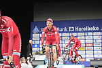 Tony Martin (GER) Team Katusha Alpecin presented to the crowd before the start of the 60th edition of the Record Bank E3 Harelbeke 2017, Flanders, Belgium. 24th March 2017.<br /> Picture: Eoin Clarke | Cyclefile<br /> <br /> <br /> All photos usage must carry mandatory copyright credit (&copy; Cyclefile | Eoin Clarke)
