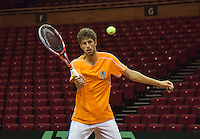 10-09-13,Netherlands, Groningen,  Martini Plaza, Tennis, DavisCup Netherlands-Austria, Training,   Robin Haase (NED)<br />