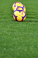 Nike Serie A balls aligned on the pitch ahead the Serie A 2018/2019 football match between Frosinone and Lazio at stadio Benito Stirpe, Frosinone, February 4, 2019 <br />  Foto Andrea Staccioli / Insidefoto