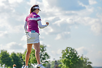 So Yeon Ryu (KOR) reacts to sinking her birdie putt on 15 during Sunday's final round of the 72nd U.S. Women's Open Championship, at Trump National Golf Club, Bedminster, New Jersey. 7/16/2017.<br /> Picture: Golffile | Ken Murray<br /> <br /> <br /> All photo usage must carry mandatory copyright credit (&copy; Golffile | Ken Murray)
