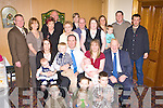 Anthony and Betty Carroll Ballaugh, Killarney celebrate christening of their daughter Ellen with their family in Darby O'Gills Killarney on Saturday.