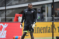 WASHINTON, DC - FEBRUARY 29: Washington, D.C. - February 29, 2020: Bill Hamid #24 of D.C. United during pre-game warmups. The Colorado Rapids defeated D.C. United 2-1 during their Major League Soccer (MLS)  match at Audi Field during a game between Colorado Rapids and D.C. United at Audi FIeld on February 29, 2020 in Washinton, DC.