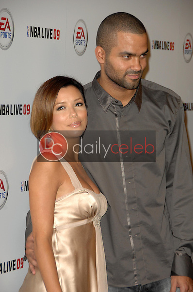 Eva Longoria Parker and Tony Parker<br />at the Launch Party for NBA Live 09. Beso, Hollywood, CA. 09-26-08<br />Dave Edwards/DailyCeleb.com 818-249-4998