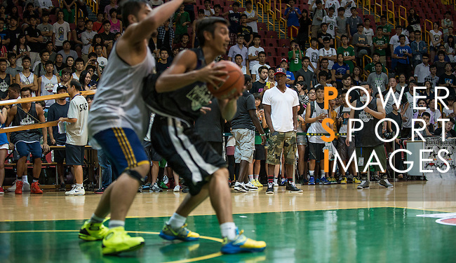 NBA's player and Red Bull athlete Rajon Rondo attends the Hong Kong's Red Bull King of the Rock at the Southorn Indoor Stadium on September 1, 2012 in Hong Kong. Photo by Andy Jones / The Power of Sport Images