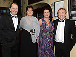 Daniel and Tara Woods and Tom and Jane Kierans pictured at the 65 Roses ball in the Grove hotel. Photo:Colin Bell/pressphotos.ie
