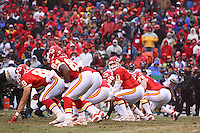 Chiefs quarterback Damon Huard takes a snap during the second half against the Jacksonville Jaguars at Arrowhead Stadium in Kansas City, Missouri on December 31, 2006. The Chiefs won 35-30.