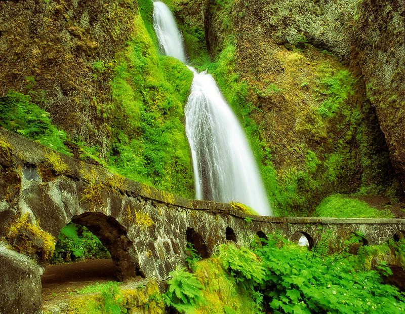 Wahkeena Falls, Columbia River Gorge National Scenic Area, Oregon.