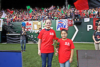 Portland, OR - Sunday, May 29, 2016: Girls Inc Girls of the Game. The Portland Thorns FC and the Seattle Reign FC played to a 0-0 tie during a regular season National Women's Soccer League (NWSL) match at Providence Park.