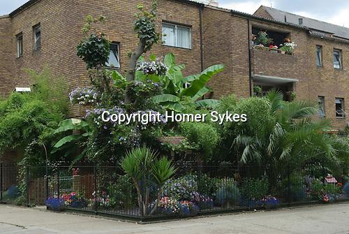 Front Garden flats Shoreditch east London UK