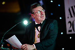 © Joel Goodman - 07973 332324 . 01/03/2018 . Manchester , UK . MIKE DEVLIN , President of Manchester Law Society and of Stephensons Solicitors LLP , speaks ahead of the award prize giving . The Manchester Evening News Legal Awards at the Midland Hotel in Manchester City Centre . Photo credit : Joel Goodman