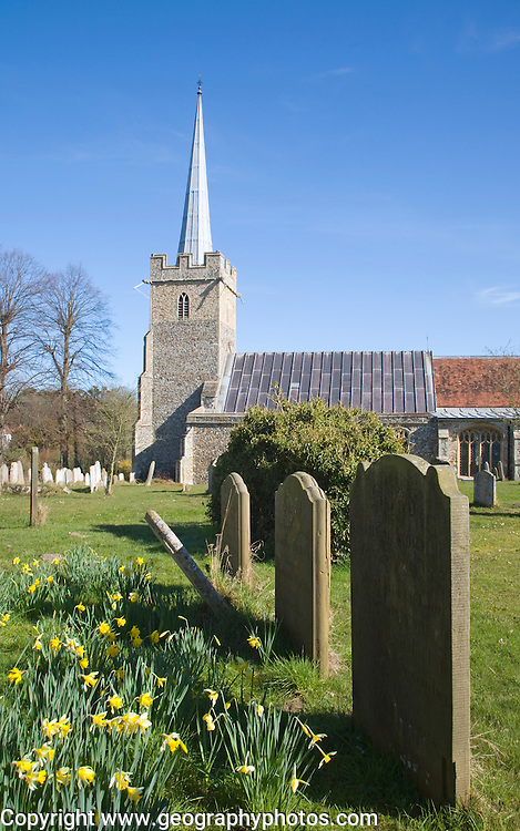 Parish church of Saint Peter at the village of Yoxford, Suffolk, England