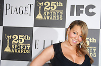 US actress/singer Mariah Carey arrives at the 25th Independent Spirit Awards held at the Nokia Theater in Los Angeles on March 5, 2010. The Independent Spirit Awards is a celebration honoring films made by filmmakers who embody independence and originality..Photo by Nina Prommer/Milestone Photo