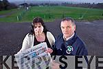 Dromid Pearses GAA club Treasurer Suzanne Ní Laoighre and Chairman Micheál Ó Síocháin.