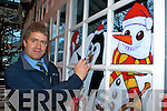 Irish Rail employee Martin Carey Killarney who painted Killarney Railway station with Christmas scenes