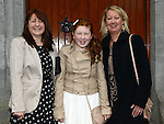Rebecca Halpin who was confirmed at the The Church of the Immaculate Conception Termonfeckin pictured with mam Karen Dodrell and sponsor Sue Cooney. Photo:Colin Bell/pressphotos.ie