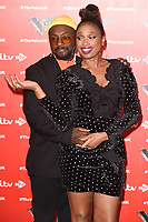 LONDON, UK. January 03, 2019: Will.i.am &amp; Jennifer Hudson at the launch photocall for the 2019 series of &quot;The Voice&quot; London.<br /> Picture: Steve Vas/Featureflash